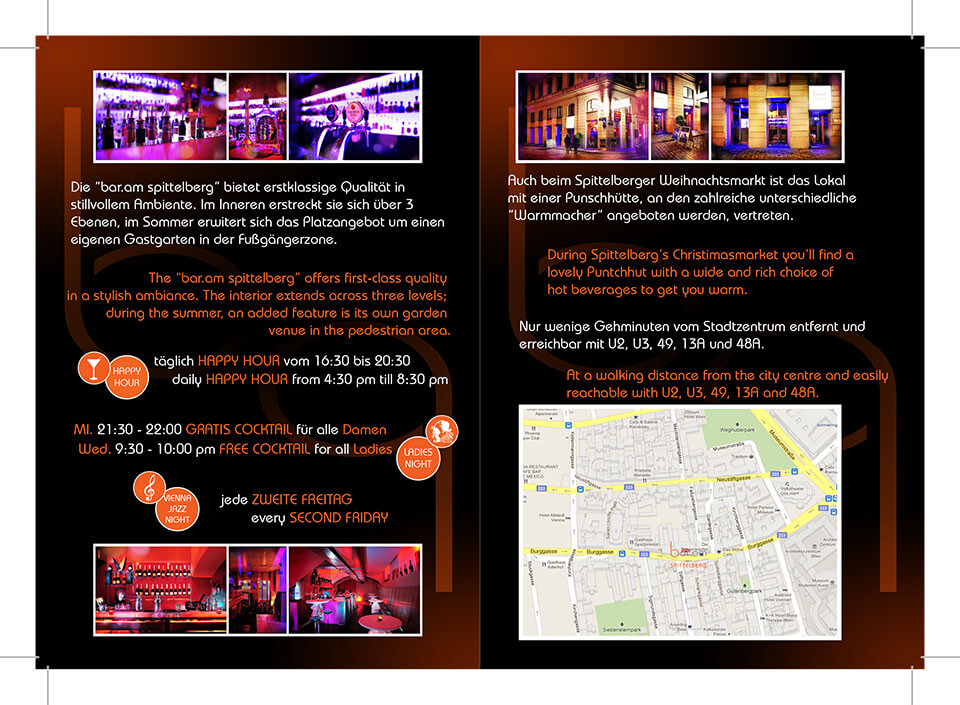 Bar am Spittelberg - Brochure - Interno