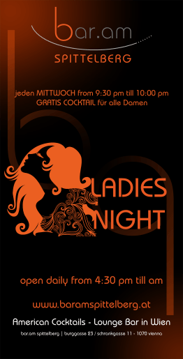 Bar am Spittelberg - Flyer Ladies Night