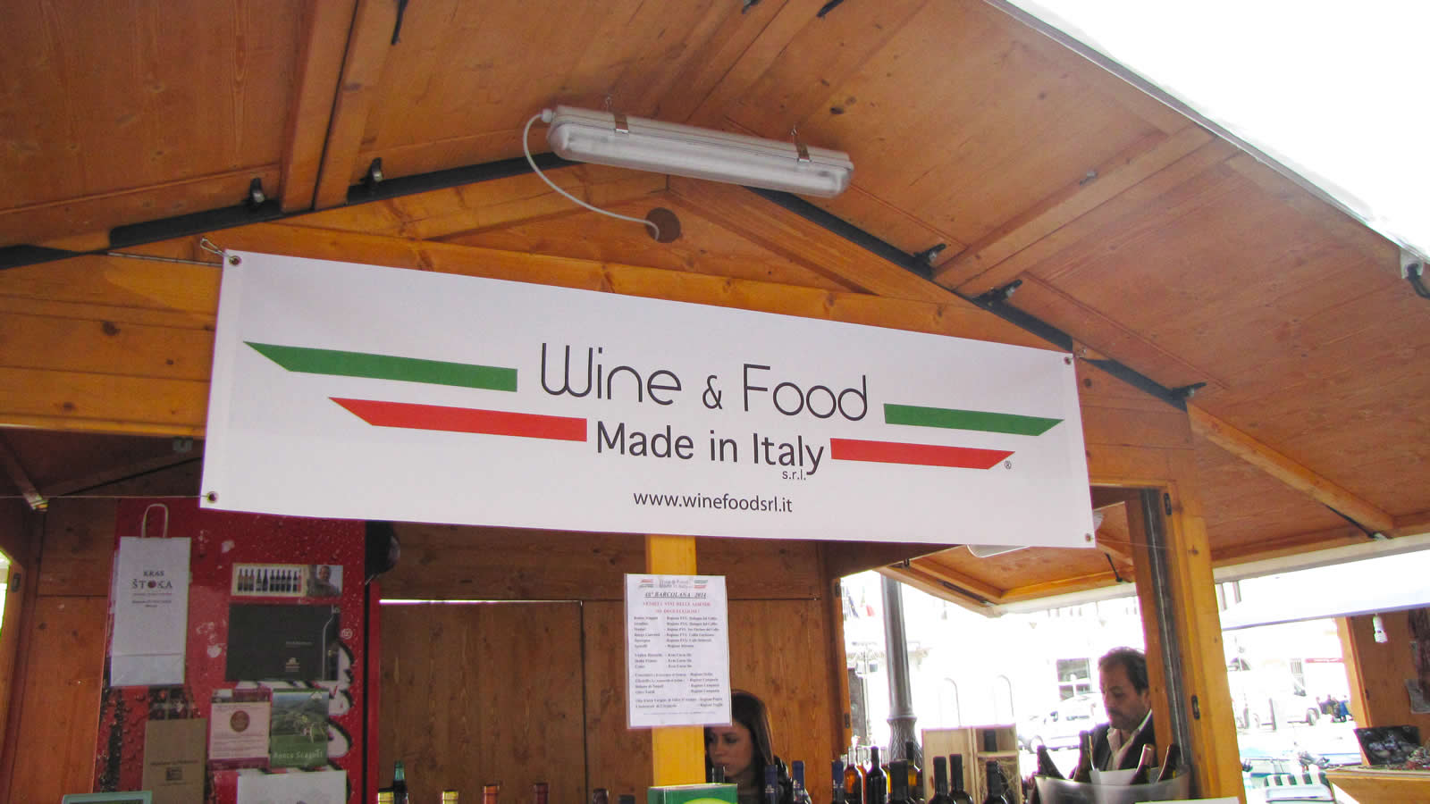 Striscione Wine & Food Made in Italy