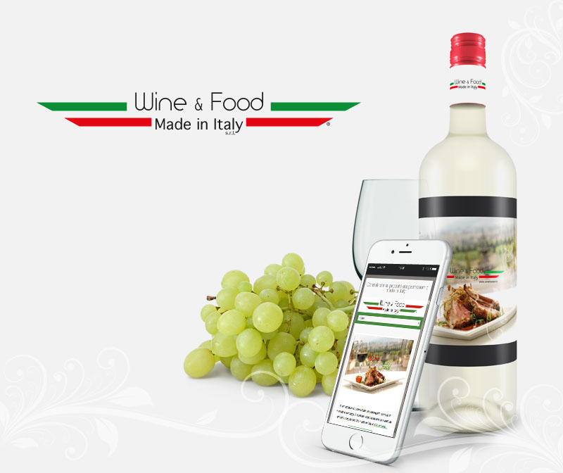 Wine & Food Made in Italy - Sito web mobile