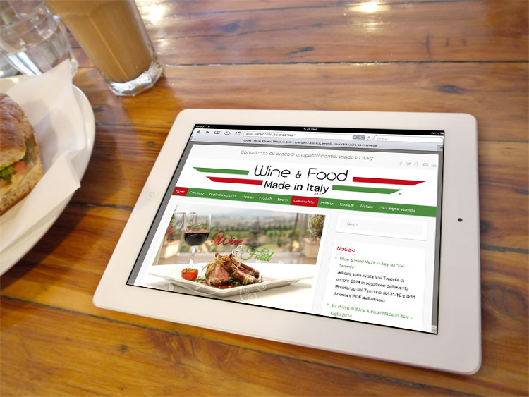 Wine & Food Made in Italy - Sito responsive
